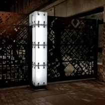 Access Gates at night on Blake Street Downtown Denver