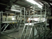Aluminum platform being built in shop photo 2