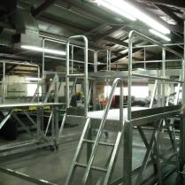 Aluminum platform being built in shop photo 2