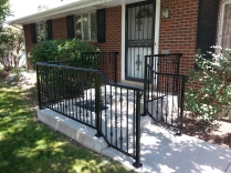 Residential front porch and stair rails with powder coated finish!!