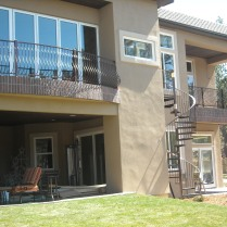 Custom metal residential railings.