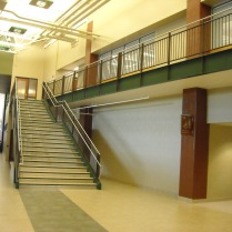Steel guardrails with Stainless Steel top and handrails at CSU Fort Collins, CO.