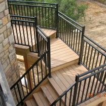 Residential custom deck and stair rails with powder coated finish!!