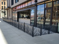 Custom exterior railings, LoDo Denver, CO