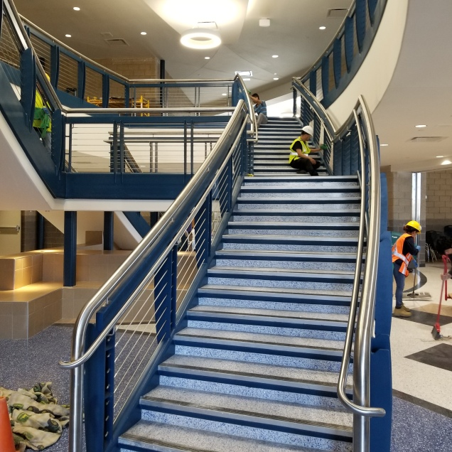 Feature Stair at new Cherry Creek Middle School in Aurora, CO
