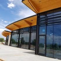 Aluminum Decorative Window Sunshades-City Park Golf Course Clubhouse
